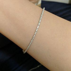 14kt White Gold 1 ct Diamond Bracelet
